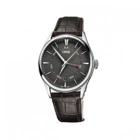 オリス アートリエポインターデイデイト 75577424053D 腕時計 メンズ ORIS  レザーストラップ 自動巻き プレゼント ラッピング無料