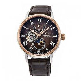 オリエントスター  メカニカルムーンフェイズ RK-AY0105Y 腕時計 メンズ Orient Star  MECHANICAL MOON PHASE  レザーベルト 自動巻 プレゼント