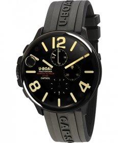 ユーボート カプソイル クロノ DLC ラバー 8109CR 腕時計 メンズ U-BOAT CAPSOIL CHRONO DLC RUBBER