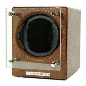 即納可能! ユーロパッション  ウォッチワインディング ボックス アダプター付 FWC-1168LBR ※時計は含まれません