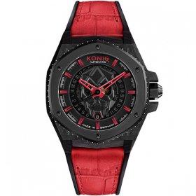 ケーニグ キングクラフト K74KC002 腕時計 メンズ KONIG K74 KING CRAFT 自動巻 ケーニッヒ キング・クラフト スカル レザーストラップ