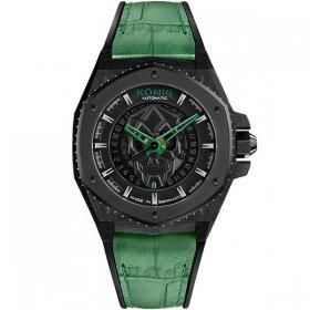 ケーニグ キングクラフト K74KC003 腕時計 メンズ KONIG K74 KING CRAFT 自動巻 ケーニッヒ キング・クラフト スカル レザーストラップ