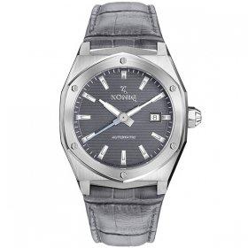 ケーニグ キャリバー K74C001 腕時計 メンズ KONIG K74 CALIBRE 自動巻 ケーニッヒ レザーストラップ グレー系