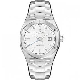 ケーニグ キャリバー K74C005 腕時計 メンズ KONIG K74 CALIBRE 自動巻 ケーニッヒ メタルブレス シルバー系