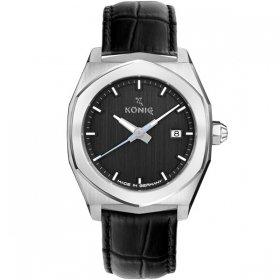 ケーニグ ベース K74B001 腕時計 メンズ KONIG K74 BASE クォーツ ケーニッヒ レザーストラップ ブラック系