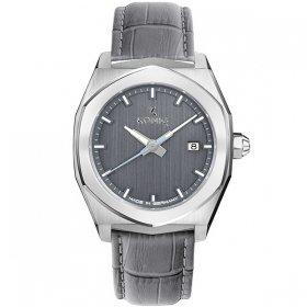ケーニグ ベース K74B002 腕時計 メンズ KONIG K74 BASE クォーツ ケーニッヒ レザーストラップ グレー系