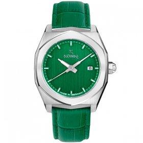 ケーニグ ベース K74B003 腕時計 メンズ KONIG K74 BASE クォーツ ケーニッヒ レザーストラップ グリーン系