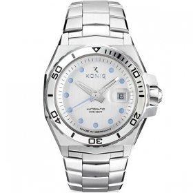 ケーニグ マリーン K74M002 腕時計 メンズ KONIG K74 MARINE 自動巻 ケーニッヒ メタルブレス マリン シルバー系