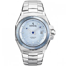 ケーニグ マリーン K74M003 腕時計 メンズ KONIG K74 MARINE 自動巻 ケーニッヒ メタルブレス マリン ブルー系