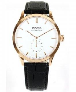 特価 55%OFF! エポス ラウンド 3408GPWH 手巻 腕時計 メンズ エポス クロノグラフ ゴールド