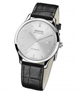特価品 半額 エポス オリジナーレ 3420SL 腕時計 メンズ 自動巻 クロノグラフ レザーストラップ epos Originale