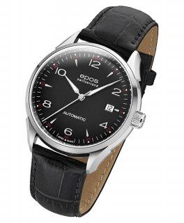 エポス オリジナーレ デイト 3427ABK 腕時計 メンズ 自動巻 epos レザーストラップ