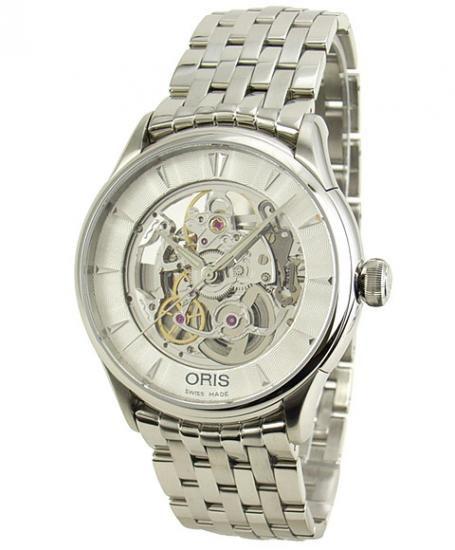 オリス アートリエ 734 7670 4051M スケルトン 自動巻 腕時計 メンズ ORIS (モデルチェンジ前旧型番734 7591 4051…