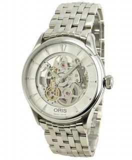 オリス アートリエ 73476704051M スケルトン 自動巻 腕時計 メンズ ORIS 734 7670 4051M メタルブレス アウトレット