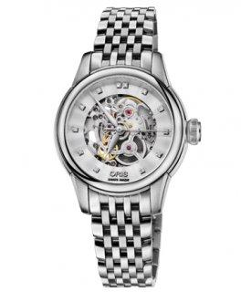 オリス アートリエ レディース 腕時計 56076874019M Artelier スケルトン ダイヤモンド 560 7687 4019M メタルブレス