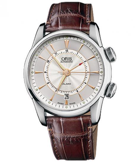 オリス アートリエ アラーム 90876074051D メンズ 腕時計 自動巻き ORIS Artelier Alarm
