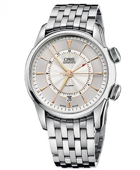 オリス アートリエ アラーム 90876074051M メンズ 腕時計 自動巻き ORIS Artelier Alarm