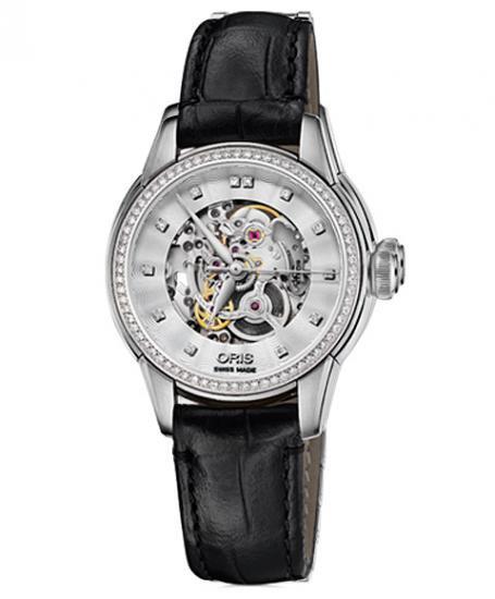 オリス アートリエ スケルトン 56076874919D レディース 腕時計 自動巻き ORIS Artelier Skeleton