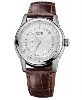 オリス アートリエ スモールセコンド 74476654051D 腕時計 メンズ 自動巻き ORIS Artelier 744 7665 4051D レザーストラップ アウトレット
