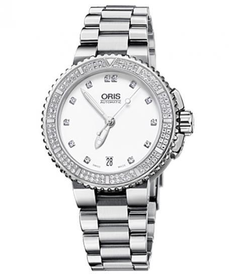 オリス アクイス デイト ダイヤモンド 73376524991M ダイバーズ レディース 腕時計 ORIS