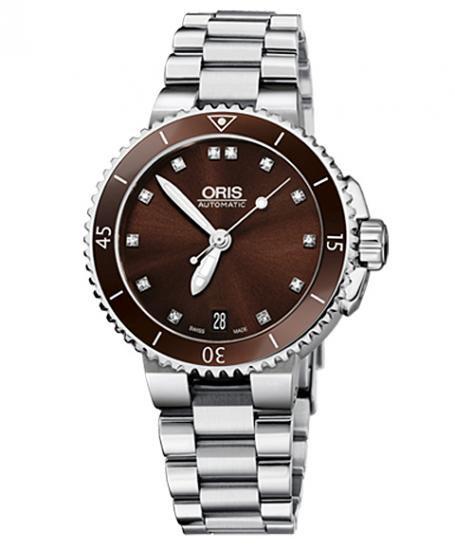 オリス アクイス デイト ダイヤモンド 73376524192M ダイバーズ レディース 腕時計 ORIS