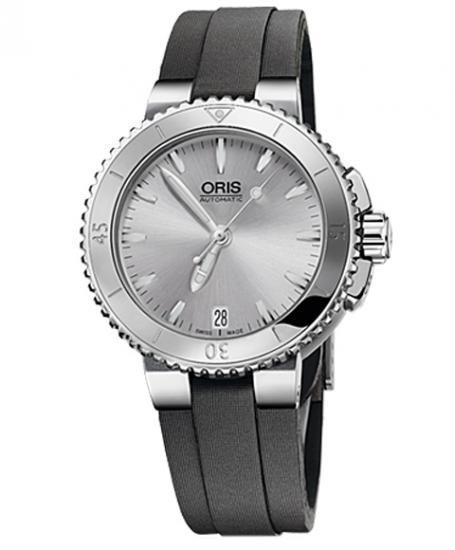 オリス アクイス デイト 73376524141D (サテンストラップ) ダイバーズ レディース 腕時計 ORIS