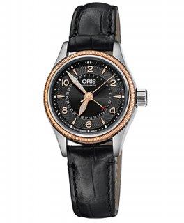 オリス ビッグクラウン ポインターデイト 59476804364D レディース 腕時計 ORIS Big Crown 594 7680 4364D レザーストラップ アウトレット