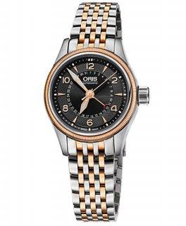 特価 55%OFF! オリス ビッグクラウン ポインターデイト 59476804364M レディース 腕時計 ORIS Big Crown 594 7680 4364M メタルブレス アウトレット