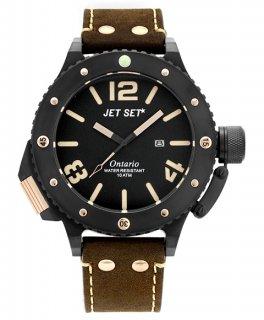 ワケあり アウトレット 73%OFF! JET SET ONTARIO ジェットセット オンタリオ 3H 腕時計 J3610B-266 レザーストラップ