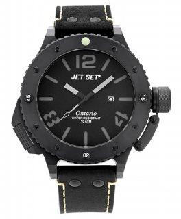 ワケあり アウトレット 73%OFF! JET SET ONTARIO ジェットセット オンタリオ 3H 腕時計 J3610B-267 レザーストラップ