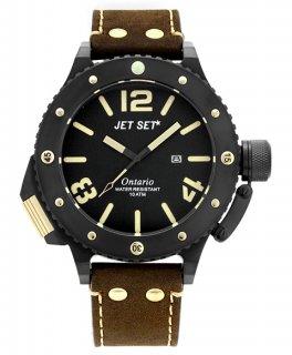 ワケあり アウトレット 73%OFF! JET SET ONTARIO ジェットセット オンタリオ 3H 腕時計 J3610B-766 レザーストラップ