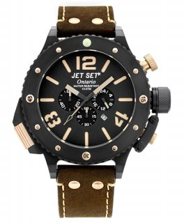 ワケあり アウトレット 73%OFF! JET SET ONTARIO ジェットセット オンタリオ クロノグラフ 腕時計 J3710B-266