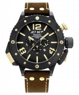 ワケあり アウトレット 73%OFF! JET SET ONTARIO ジェットセット オンタリオ クロノグラフ 腕時計 J3710B-766