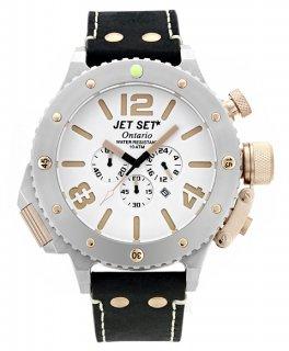 ワケあり アウトレット 73%OFF! JET SET ONTARIO ジェットセット オンタリオ クロノグラフ 腕時計 J37103-167