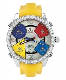ジェイコブ ファイブタイムゾーン JC-13D ダイヤモンドベゼル 腕時計 JACOB&CO