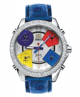 ジェイコブ ファイブタイムゾーン JC-1D ダイヤモンドベゼル 腕時計 JACOB&CO