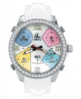 ジェイコブ ファイブタイムゾーン JC-24D ダイヤモンドベゼル 腕時計 JACOB&CO