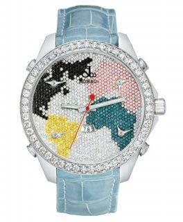 ジェイコブ ファイブタイムゾーン JC-47D ダイヤモンドベゼル 腕時計 JACOB&CO