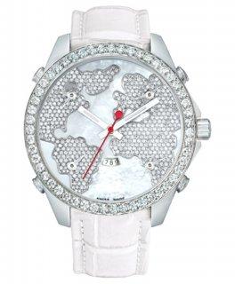ジェイコブ ファイブタイムゾーン JC-47WWD ダイヤモンドベゼル 腕時計 JACOB&CO