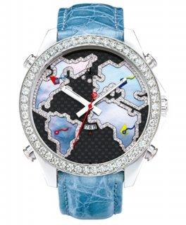 ジェイコブ ファイブタイムゾーン JC-127D ダイヤモンドベゼル 腕時計 JACOB&CO