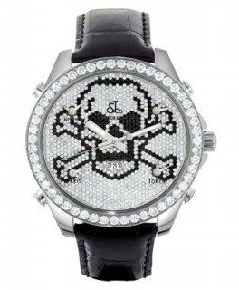 ジェイコブ ファイブタイムゾーン JC-SKULLD ダイヤモンドベゼル 腕時計 JACOB&CO