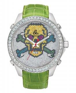ジェイコブ ファイブタイムゾーン JC-SKULL1D ダイヤモンドベゼル 腕時計 JACOB&CO