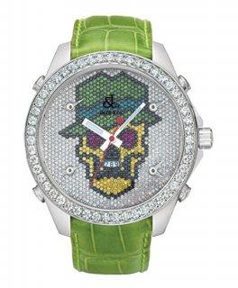 ジェイコブ ファイブタイムゾーン JC-SKULL4D ダイヤモンドベゼル 腕時計 JACOB&CO