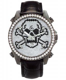 ジェイコブ ファイブタイムゾーン JC-SKULL11BCD ダイヤモンドベゼル 腕時計 JACOB&CO