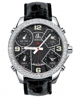 ジェイコブ ファイブタイムゾーン JC-M2D ダイヤモンドベゼル 腕時計 JACOB&CO