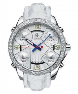 ジェイコブ ファイブタイムゾーン JC-M3D ダイヤモンドベゼル 腕時計 JACOB&CO