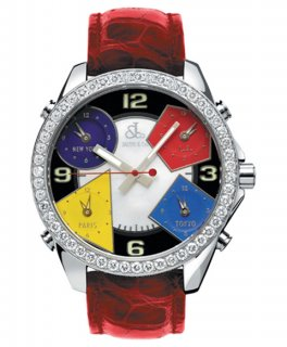 ジェイコブ ファイブタイムゾーン JC-M4D ダイヤモンドベゼル 腕時計 JACOB&CO