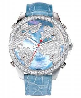 ジェイコブ ファイブタイムゾーン JC-M47WMD ダイヤモンドベゼル 腕時計 JACOB&CO