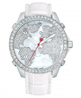 ジェイコブ ファイブタイムゾーン JC-M47WWD ダイヤモンドベゼル 腕時計 JACOB&CO