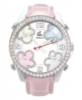 ジェイコブ ファイブタイムゾーン JC-MATH10D ダイヤモンドベゼル 腕時計 JACOB&CO